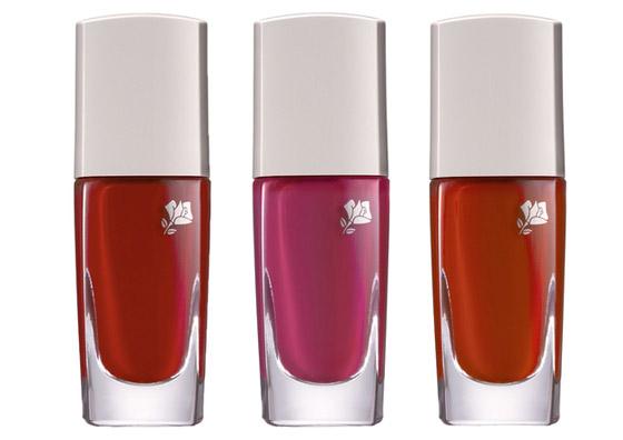 Koketní laky na nehty Jason Wu for Lancôme jsou rovněž ve třech odstínech červené