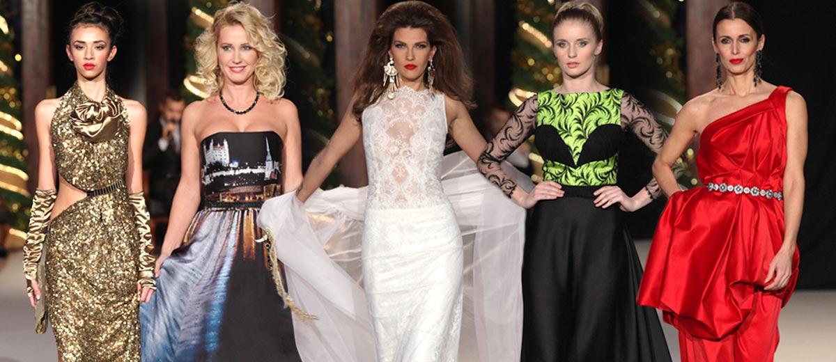 Plesové šaty a exkluzivní kožichy představila finální Zlatá přehlídka Bratislavských módních dnů!