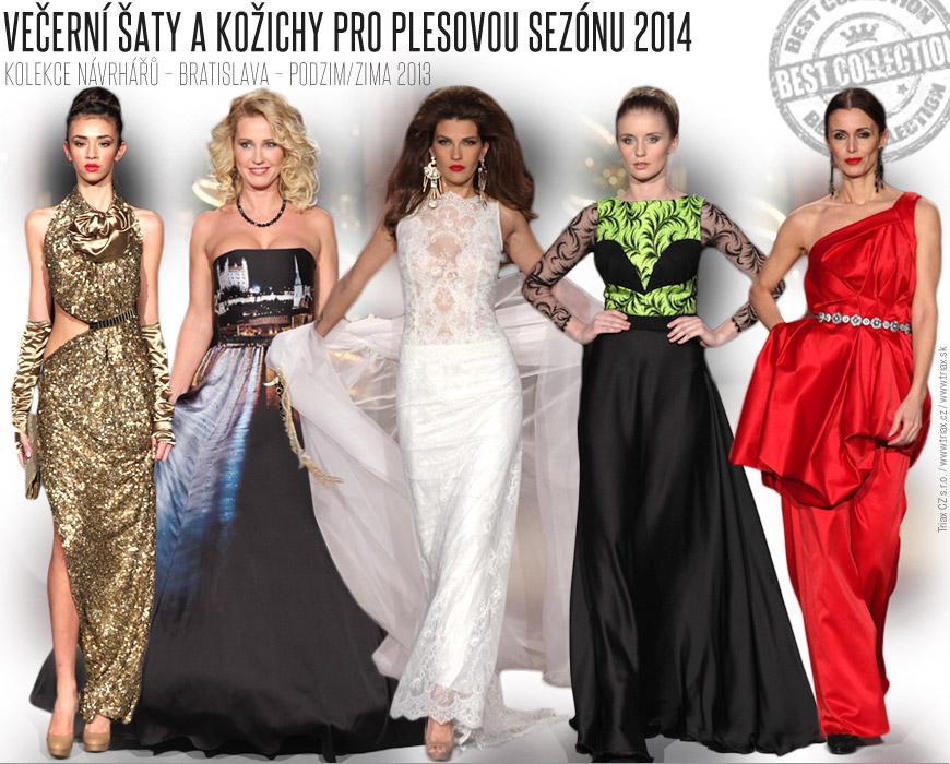 Zlatá módní přehlídka Bratislavských módních dnů / Večerní šaty a kožichy pro plesovou sezónu 2014