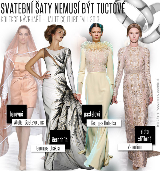 Inspirujte se tématy z Haute Couture Fall 2013 – svatební šaty mohou být dokonale krásné i když nejsou tuctové!