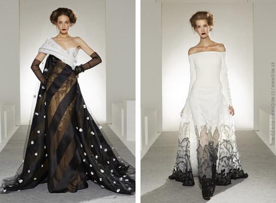 Svatební šaty z kolekcí Haute Couture Fall 2013: svatební šaty Alexis Mabille, 3x svatební šaty Georges Chakra.