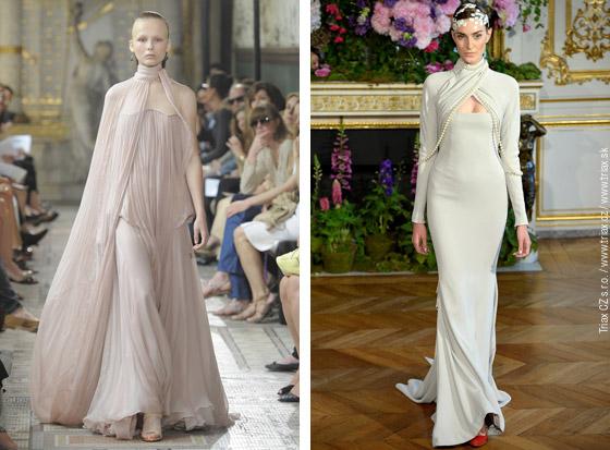 Svatební šaty z kolekcí Haute Couture Fall 2013: svatební šaty Christophe Josse, svatební šaty Alexis Mabille, svatební šaty Alexander Vauthier, svatební šaty Giambattista Valli.