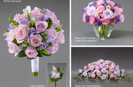 Tradiční svatební kytice návrhářky Vera Wang pro zimu 2013/14.