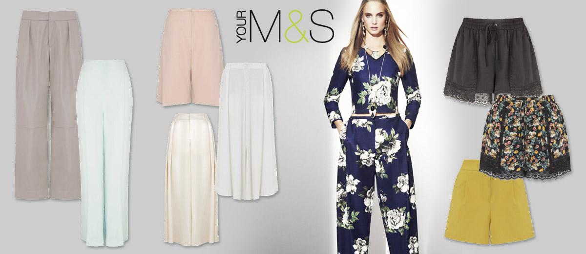 Marks Spencer do své jarní a letní kolekce 2014 zařadil hned několik modelů  dlouhých širokých kalhot. 8f407556ea