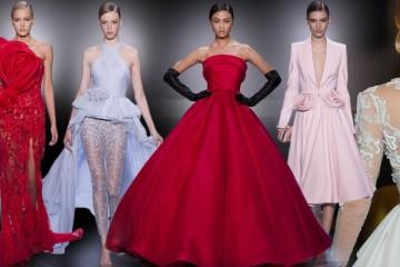 Nádherné večerní šaty, koktejlky i svatební róby byly součástí Haute Couture přehlídky anglické značky Ralph&Russo.