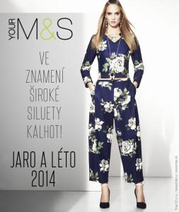 Krásný komplet širokých kalhot a topu z Marks&Spencer jarní a letní kolekce 2014 si téměř spletete s overalem.