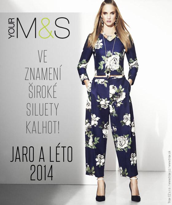 Krásný komplet širokých kalhot a topu z Marks Spencer jarní a letní kolekce  2014 si téměř spletete a488aa150e