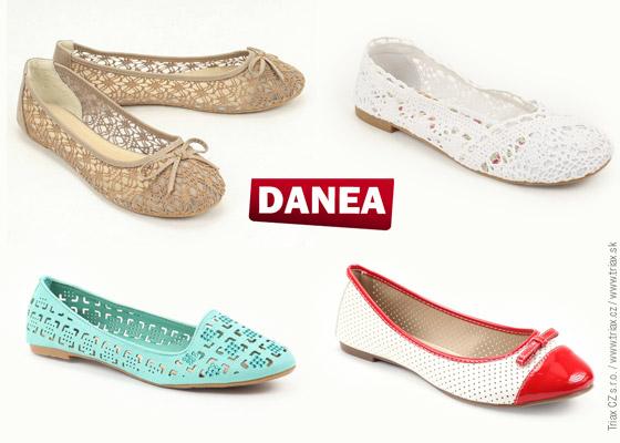 Obuv Danea nabízí široký sortiment perforovaných, krajkových a síťovaných bot. Toto jsou baleríny, které byste v jarním sortimentu Danea neměly přehlídnout.