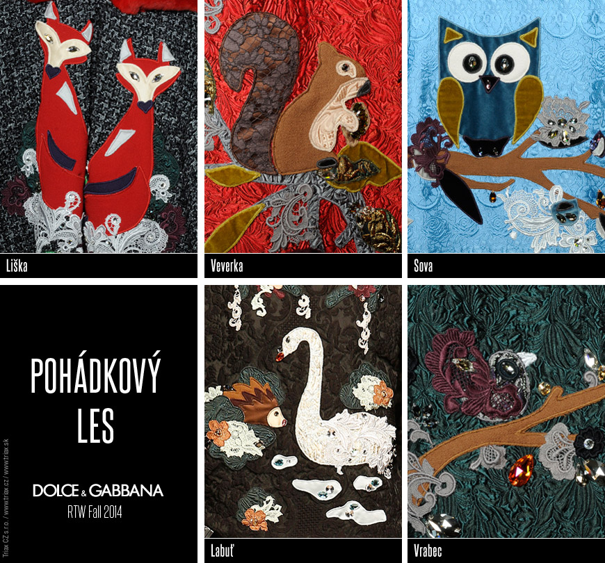 Sovy, lišky, veverky, labutě i vrabčáci se zabydleli v pohádkovém lese Dolce&Gabbana. Nosit kousky z této módní kolekce bude chtít kus dětské duše.