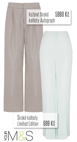 Široké kalhoty z Marks&Spencer