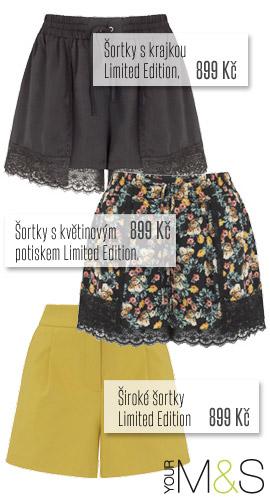 Široké šortky z Marks&Spencer