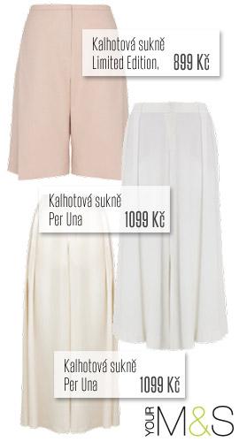 Kalhotové sukně z Marks&Spencer