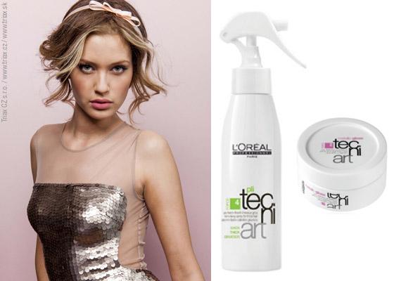 S elegantní čelenkou držící romanticky zvlněné vlasy můžete vyrazit na večírek. S novým účesem určitě sklidíte úspěch!