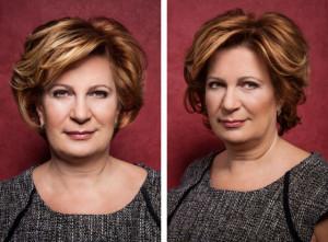 Účesy pro polodlouhé vlasy z kolekce MatureWOMEN Honzy Kořínka.
