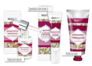 Výtěžky z granátového jablka najdeme i v antiageing kosmetických přípravcích, například v krémech proti stárnutí.