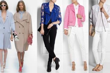 Trenčkoty, motobundy, džínsky, bomber bundy, zdobené žakety, saka v pánském stylu a letní kožešiny – to jsou módní svrchníky pro tuto sezónu.