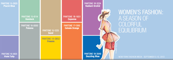 Nové módní barvy pro jaro a léto 2014