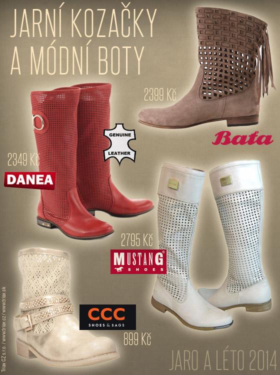 Tipy na jarní kozačky z českých butiků a obuví: Danea, Baťa, CCC a Mustang shoes.