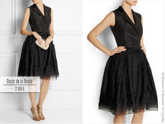 Tuxedo šaty z organzy od Oscar de la Renta. Ideální jako malé černé.