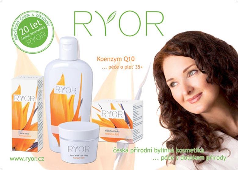 Kosmetika české značky Ryor má ve svém sortimentu i speciální řadu s koenzymem Q10.