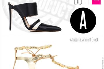 Boty pro jaro a léto 2014 od top světových značek: Altuzarra, Ancient Greek