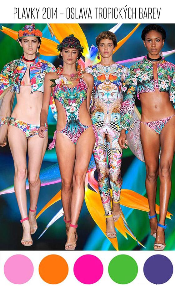 Smíchejte všechny barvy a vzory tropických květin, ovoce, ptáků i ostatní fauny, přimíchejte energii národů Jižní Ameriky a neřízený chaos brazilského karnevalu – namícháte další plavkový trend pro rok 2014.