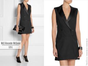 Vestové tuxedo šaty MCQ Alexander McQueen. Ideální především do práce, když potřebujete vypadat business-elegantně a žensky současně.
