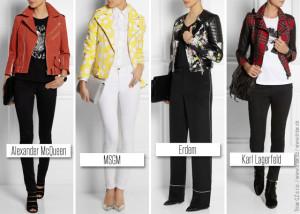 Biker jacket se změnil v extra módní oblečení – zapomeňte na černou koženou klasiku a zkuste módní variace v barvě, s krajkou nebo se zdobením.