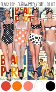 Odvážné vzory, retro střihy a monochromatická barevnost je oslavou nevázaných 60. let. Plavky v tomto stylu se letos opět vrací!
