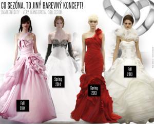 Svatební šaty Vera Wang / Co sezóna, to jiný barevný koncept!