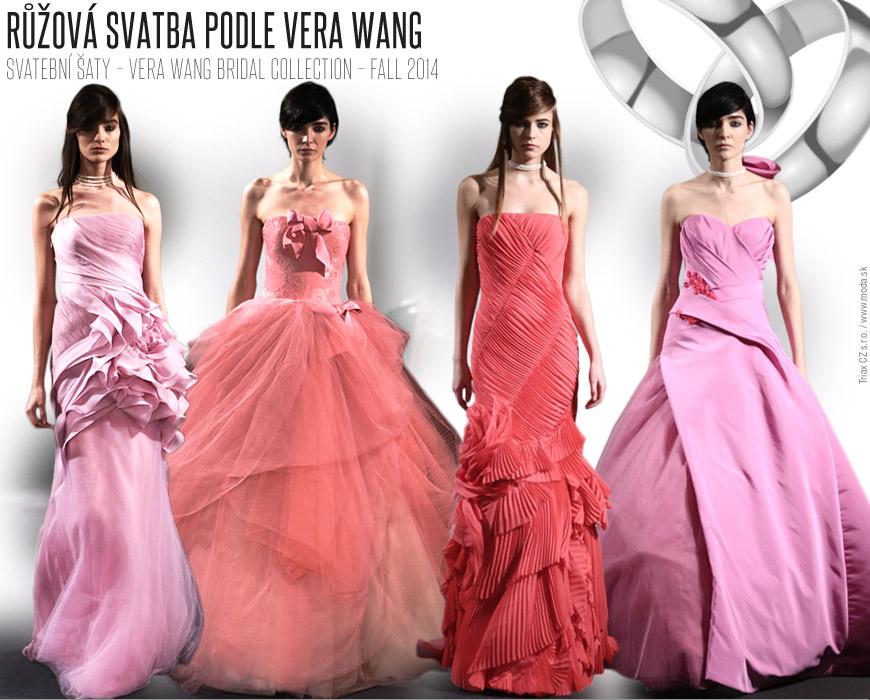 Růžová svatba podle Vera Wang / Svatební kolekce podzim/zima 2014/15