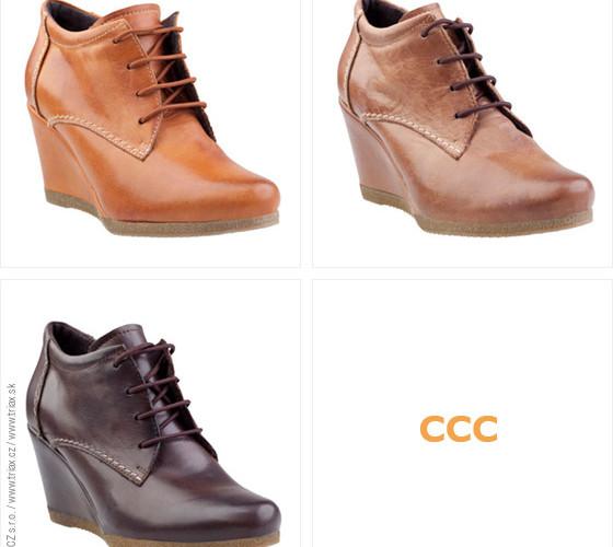 Dámské oxfordky z CCC jsou na podpatku a platformě. Mají extra moderní fazónu, kterou byste neměly ve svém botníku opomenout! (Cena: 1299 Kč)