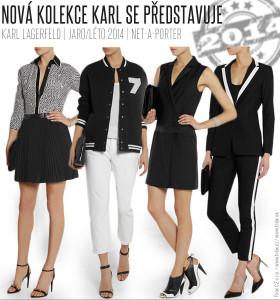 Černý – nestárnoucí a také lagerfeldovský, takový je základ nové kolekce Karla Lagerfelda pro jaro a léto 2014. Objevuje se také v klasické kombinaci s bílou.