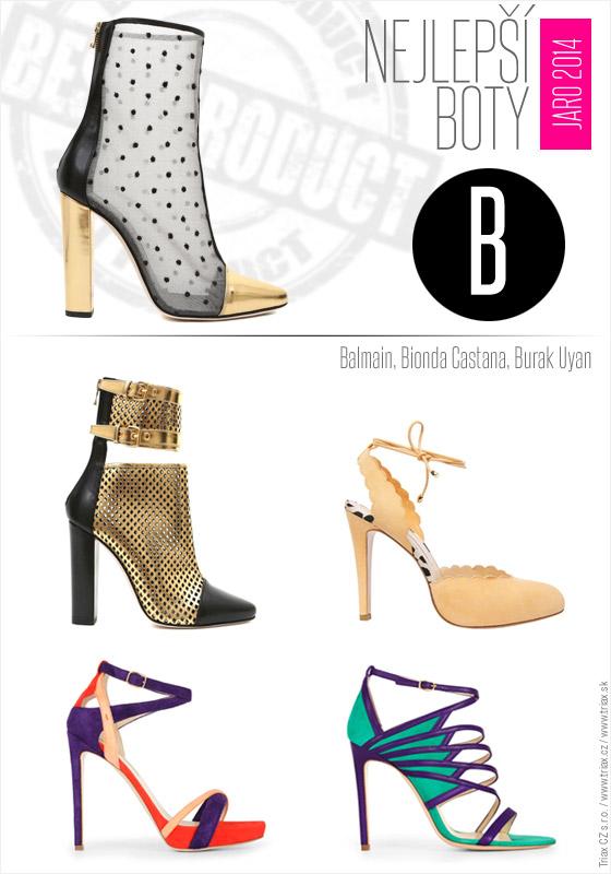 Boty pro jaro a léto od top světových značek: Balmain, 2x Bionda Castana, Bionda Castana, 2x Burak Uyan.
