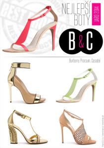 Boty pro jaro a léto od top světových značek: boty Burberry Prorsum a Casadei.