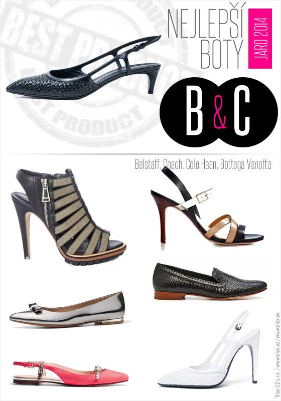 Boty pro jaro a léto od top světových značek: boty Belstaff, 2x Coach, 2x Cole Haan, Bottega Venetta.