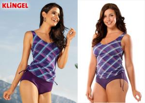 Plavky z KLiNGEL sluší štíhlým i plnoštíhlým ženám.