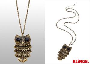 Sova jako motiv je jedním z módních trendů letošní roku. KLiNGEL ji nabízí také na módním náhrdelníku. Jeho délku si můžete uzpůsobit tak, aby byla ideální právě pro váš výstřih. Umožňuje prodloužení až o 8 cm. (Cena: 519 Kč)