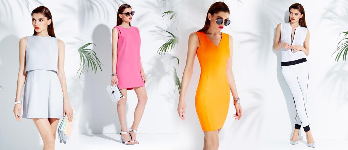 Monochromatické přiléhavé šaty zdůrazňující postavu v extra módním looku  inspirovaném sportovní módou 9f3bbebd71