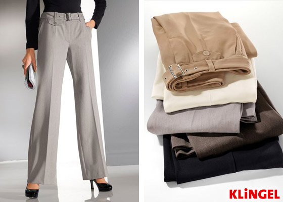 """Ideální kalhoty pro silná lýtka a kotníky existují! Co říkáte na tyto? Luxusní kalhoty """"Madrid"""" jsou z katalogu KLiNGEL. (Cena: 1799 Kč)"""