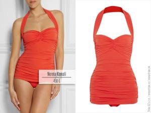 Jednodílné plavky z kolekce Norma Kamali pro jaro a léto 2014.