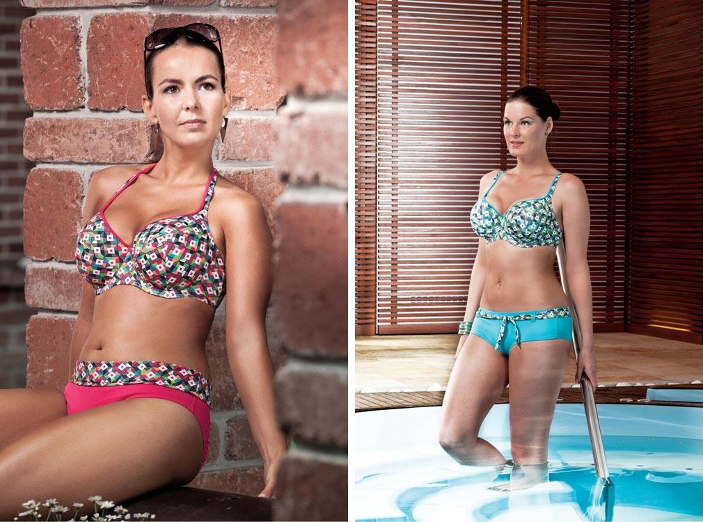 Triola myslí na české ženské tvary. Plavky Triola nabízí sortiment také pro větší velikosti a to co do obvodu, tak co do velikosti košíčků podprsenky.