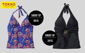 Tankiny z plavek Takko Fashion můžete kombinovat se spodními díly plavek, nebo si je obléct k plážové sukni, k minisukni nebo k šortkám.