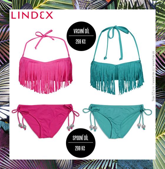 Plavky Lindex: Modely plavek jsou plné nápadů a pestrých barev.