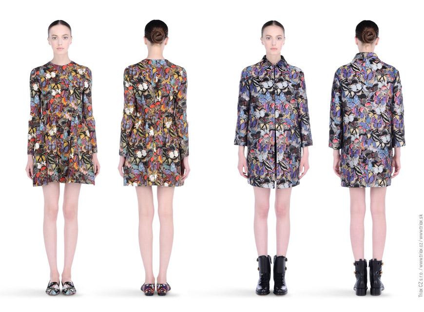 Šaty z kolekce Camubutterfly od Valentino.