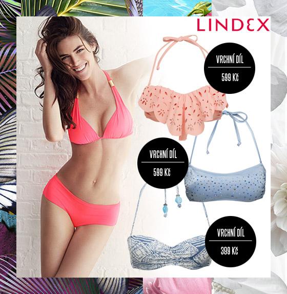 Plavky Lindex: Pro letošní sezónu tak módní pastely nezapomněl Lindex ve své plavkové kolekci rovněž použít.