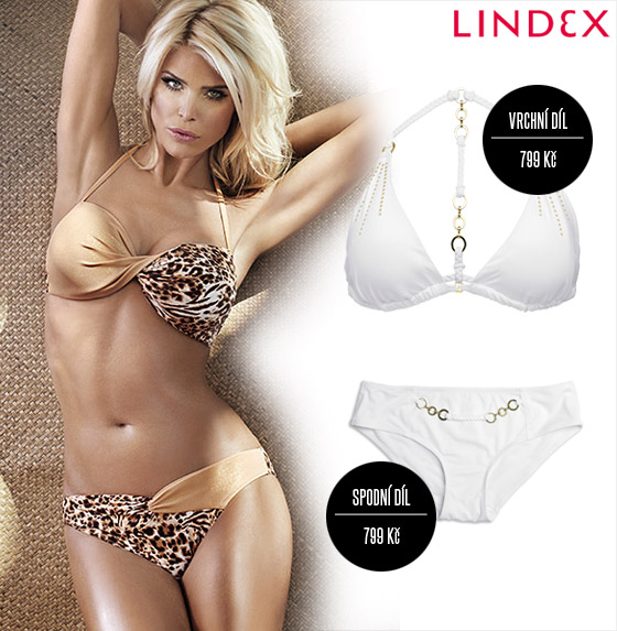 Plavky Lindex: Chcete-li být za hvězdu, vyberte si plavky z kolekce Very Victoria Silvstedt.