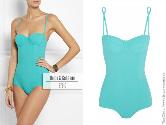 Jednodílné plavky z kolekce Dolce&Gabbana pro jaro a léto 2014.