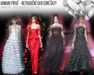 Svatební šaty s puntíky / Armani Privé – Haute Couture Fall 2014