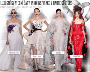 Luxusní svatební šaty jako inspirace z Haute Couture (Couture kolekce pro podzim 2014).